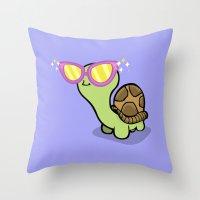 Fabulous Turtle! Throw Pillow