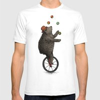 The Juggler (color option) Mens Fitted Tee White SMALL