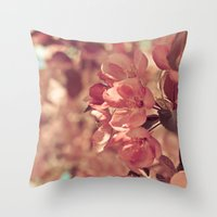 Ode to pink Throw Pillow
