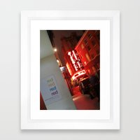 RED? Framed Art Print