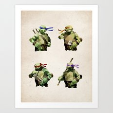 Polygon Heroes - TMNT Art Print
