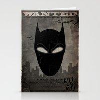 WANTED: Masked Vigilante Stationery Cards