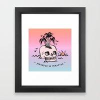 STRANDED IN PARADISE Framed Art Print