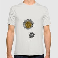 - Cosmos_01 - Mens Fitted Tee Silver SMALL