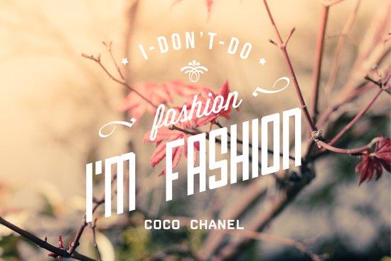 Coco Chanel quote Art Print