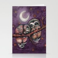 Owls in love II Stationery Cards
