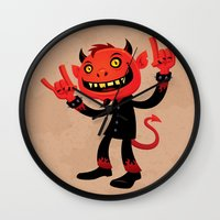 Heavy Metal Devil Wall Clock