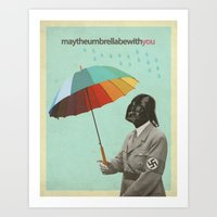 May The Umbrella Be With… Art Print