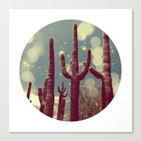 Space Cactus Canvas Print