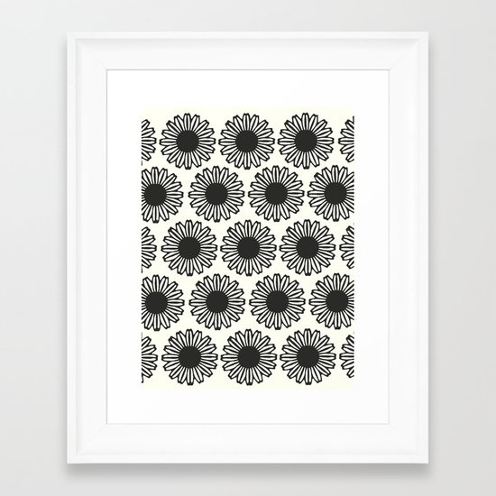 Vintage Flower_Black Framed Art Print