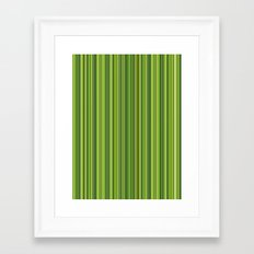Many multicolored strips in the green sample Framed Art Print