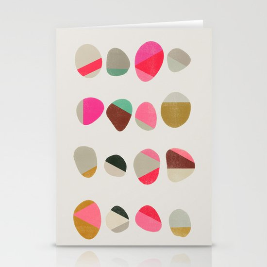 Painted Pebbles 1 Stationery Card