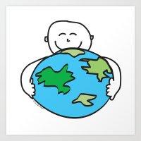 Love The Earth Art Print