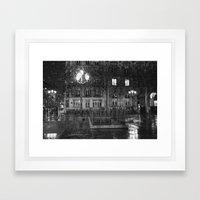 Paris road Framed Art Print