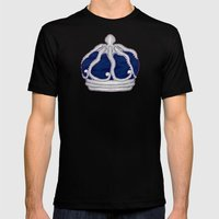 Octopus Crown Mens Fitted Tee Black SMALL