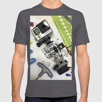 Go Pro Mens Fitted Tee Asphalt SMALL