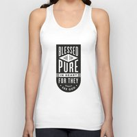 Blessed Are The Pure In … Unisex Tank Top