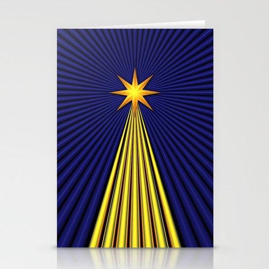 Christmas Star Stationery Card
