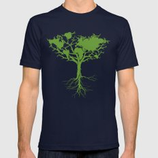 Earth Tree Mens Fitted Tee Navy SMALL