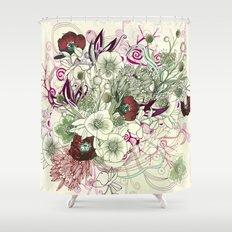 Zentangle Floral mix II Shower Curtain