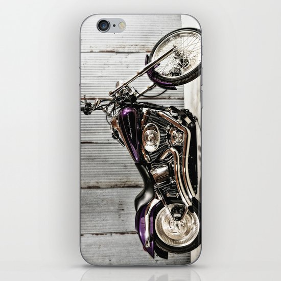 Purple Harley Softail iPhone & iPod Skin
