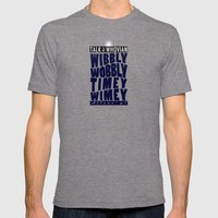 Talk Whovian To Me (alternate version) Mens Fitted Tee Tri-Grey SMALL