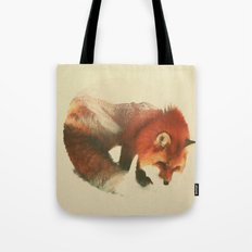 Snow Fox Tote Bag