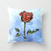 The Little Prince's Rose Throw Pillow