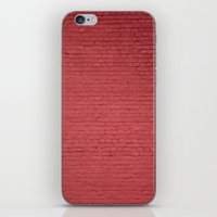 Red Bricks Wall6473 iPhone & iPod Skin