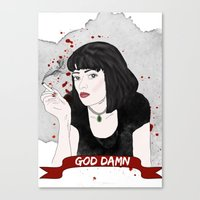 Pulp Fiction's Mia Wallace Canvas Print