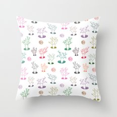 Cacti under the moon Throw Pillow