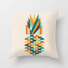 Groovy Pineapple Throw Pillow