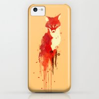 iPhone 5c Cases featuring The fox, the forest spirit by Budi Kwan