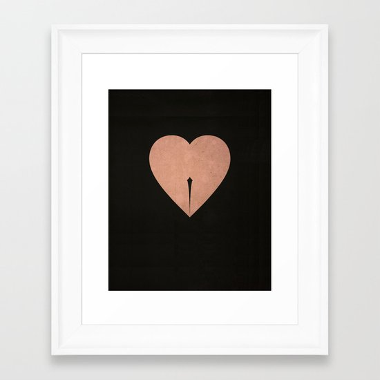 Oups Framed Art Print