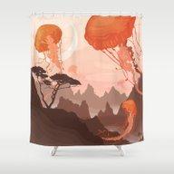 Shower Curtain featuring Eclipse by Alex Craig
