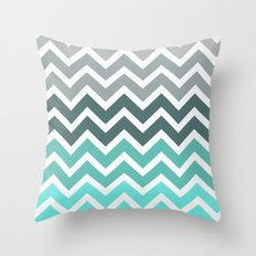 Tiffany Fade Chevron Pattern Throw Pillow