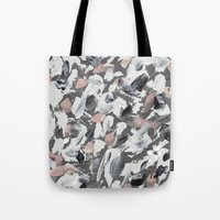 White and Grey Tote Bag