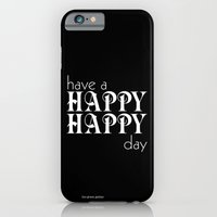 iPhone & iPod Case featuring Have a happy happy day black by the green gables