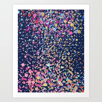 Gold Confetti Color Blur… Art Print