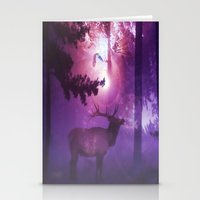 The enchanted forest Stationery Cards