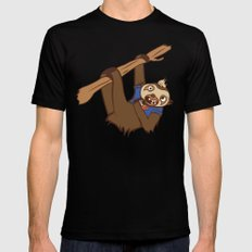 Sloth Mens Fitted Tee Black SMALL