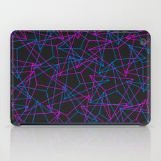Abstract Geometric 3D Triangle Pattern in Blue / Pink iPad Case