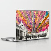 paris Laptop & iPad Skins featuring Vintage Paris by Bianca Green
