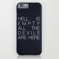 iPhone Cases featuring Hell is Empty by Good Sense