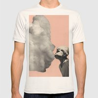 Exhalation Mens Fitted Tee Natural SMALL