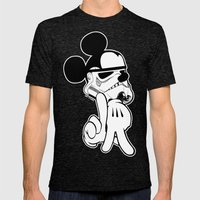 Mousetroopin' Mens Fitted Tee Tri-Black SMALL