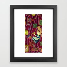 Down, down, down to the center of the earth. Framed Art Print