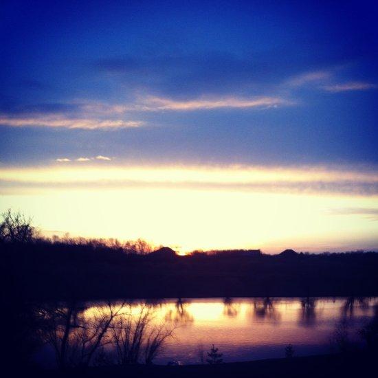 Sunset over Pond Art Print