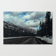 Driving In The North Cas… Canvas Print