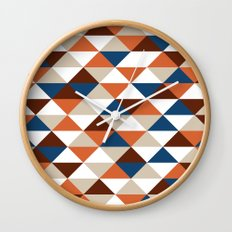 Triangle Pattern #5 Wall Clock